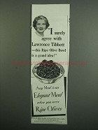 1950 Ripe Olives from California Ad - I Surely Agree