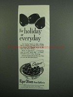 1950 Ripe Olives from California Ad - For Holiday