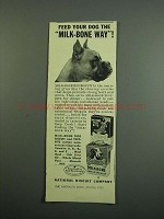 1950 Nabisco Milk-Bone Dog Biscuits & Tiny Bits Ad