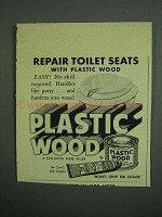 1950 Plastic Wood Ad - Repair Toilet Seats