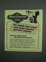 1950 Briggs & Stratton Gasoline Engines Ad