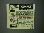 1950 Shaw Du-All and Peppy Pal Tractors Ad