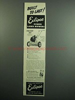 1951 Eclipse Rocket 20 Lawn Mower Ad - Built to Last