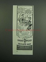 1951 Underwood Deviled Ham Ad - Makes Eggs So Good