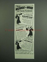 1951 United States Plywood Ad - Weldwod, Firzite