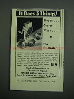 1951 Detroit Metal Products Tri-Grater Ad - 3 Things