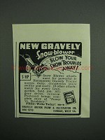 1951 Gravely Snow-Blower Ad - Blow Your Troubles Away