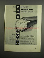 1952 Cyma Chief Watch Ad - Advanced Automatic