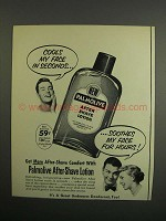 1952 Palmolive After Shave Lotion Ad - Cools My Face