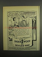 1952 Underwood Deviled Ham Ad - These Canapes