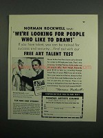1953 Famous Artists Course Ad - Norman Rockwell