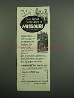 1953 Missouri Division of Resources and Development Ad