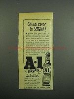 1953 A.1. Sauce Ad - Gives Savor to Stew
