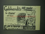 1953 Gebhardt's Chili Powder Ad - The Original Flavor