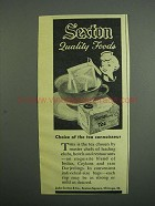 1953 Sexton Tea Ad - Quality Foods