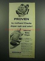 1954 Mennen Baby Magic Lotion Ad - Proven by Mothers