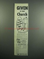 1954 Marion-Kay Vanilla Ad - Given to Your Church