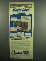 1954 Pyrofax LP Gas Ad - Magic Chef Gas Range