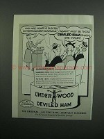 1954 Underwood Deviled Ham Ad - Mrs. Jones is Elected