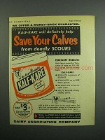 1954 Dairy Association Company Kalf-Kare Ad
