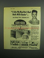 1954 Dairy Equipment Co. Dari-Kool Bulk Milk Cooler Ad