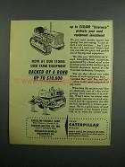 1954 Caterpillar Equipment Ad - Insurance Protects