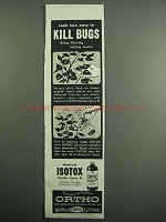 1954 Ortho Isotox Ad - Easy to Kill Bugs