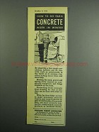 1954 Portland Cement Association Ad - Farm Concrete