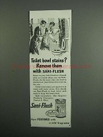 1954 Sani-Flush Toilet Bowl Cleaner Ad - Stains?