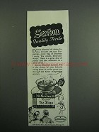 1954 Sexton Sherman Luxury Tea Ad - Quality Foods