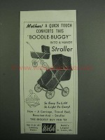 1954 Welsh Boodle-Buggy Ad - Converts Into a Stroller