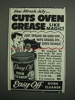 1954 Easy-Off Oven Cleaner Ad - New Miracle Jelly