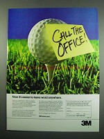 1984 3M Post-it Note Ad - Leave Word Anywhere