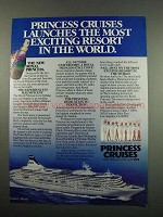 1984 Princess Cruises Ad - Most Exciting Resort