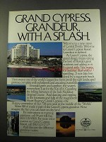 1984 Hyatt Regency Grand Cypress Hotel Ad - A Splash