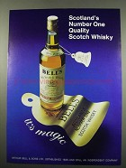 1984 Bell's Scotch Ad - Scotland's Number One Quality