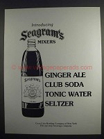 1984 Seagram's Mixers Ad - Ginger Ale Club Soda