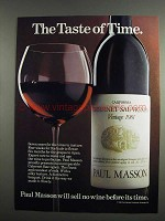 1984 Paul Masson Cabernet Sauvignon Ad - Taste of Time