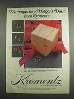 1984 Krementz Jewelry Ad - Diamonds For Mother's Day