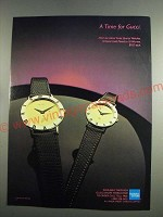 1984 Gucci Watches Ad - A Time for Gucci