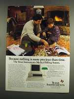 1984 Texas Instruments Medical Billing System Ad