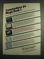 1984 Commodore Computers Ad - Magic Desk I
