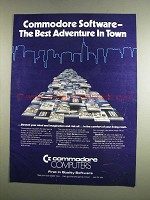 1984 Commodore Computers Ad - Best Adventure in Town