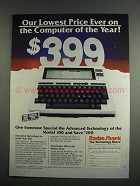 1984 Radio Shack Model 100 Computer Ad - Lowest Price