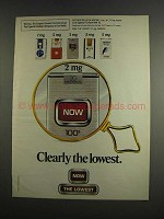 1984 Now Cigarettes Ad - Clearly the Lowest