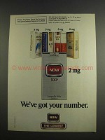 1984 Now Cigarettes Ad - We've Got Your Number