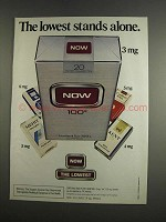 1984 Now Cigarettes Ad - The Lowest Stands Alone