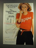1984 Virginia Slims Cigarettes Ad - What's Bright Red