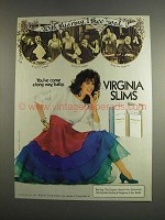 1984 Virginia Slims Cigarettes Ad - With This Ring