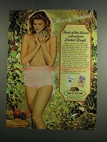 1984 Fruit of the Loom Ladies' Briefs Ad - Only Natural